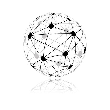 global network sphere icon. vector Vector