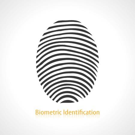 fingerprint scan icon. vector eps10 Vector