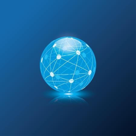 blauwe wereldbol bol. vectoreps10