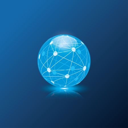blue globe sphere. vector eps10