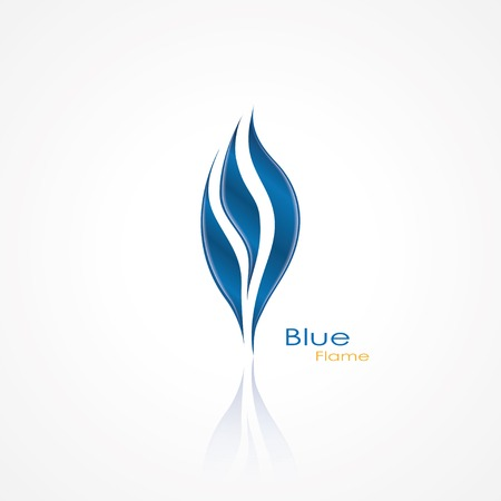 blue flame: blue flame abstract icon. vector eps10 Illustration