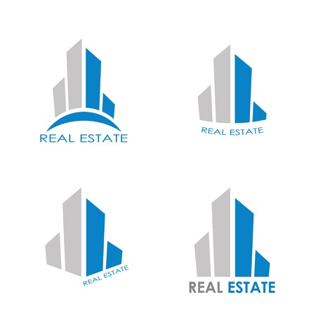 real estate abstract icons. vector illustration Vector