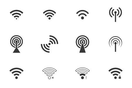 remote lock: iconos wifi. conjunto de vectores. eps8
