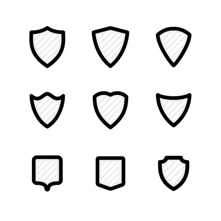 shield icons vector set. eps8