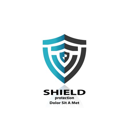 shield. abstract symbol of security. vector eps10 Stok Fotoğraf - 30393545