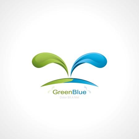 green blue splash abstract symbol. template logo design. vector eps10 Vector