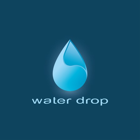 blue water drop abstract symbol. template logo design. vector eps10 Vector
