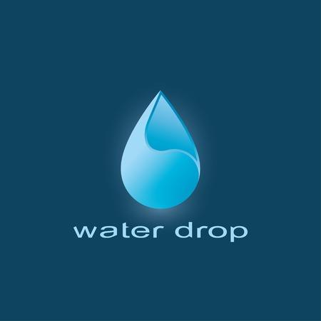 blue water drop abstract symbol. template logo design. vector eps10 Vector