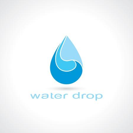 blue water drop symbol. template logo design. vector eps10 Vector