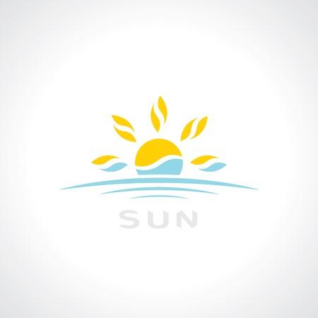 sunrise symbol. template logo design. vector eps10 Illustration