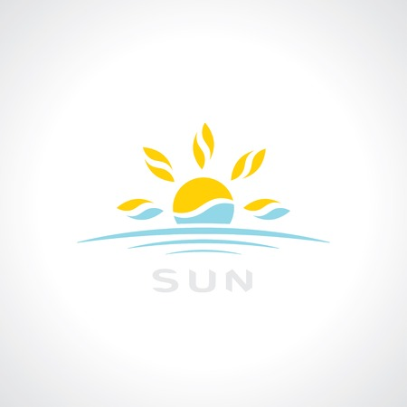 sunrise symbol. template logo design. vector eps10 Çizim