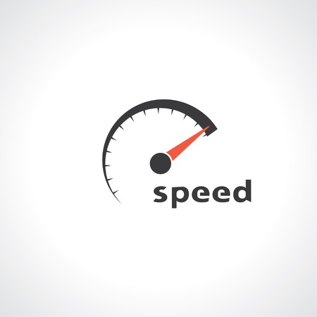speedometer. abstract symbol of speed. template logo design. vector.   Çizim