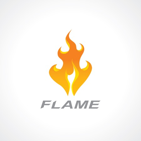 icon of a flaming fire.  Vector