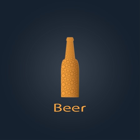 draught: bottle of beer. vector illustration. eps10 Illustration