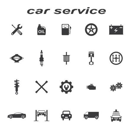 gearbox: car servise icons vector set