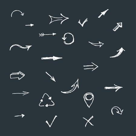 flecha: conjunto flechas de dibujo vectorial mano