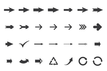 turning point: set arrows. vector