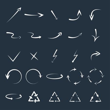 flechas curvas: conjunto de flechas curvadas.