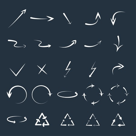 curved arrows: set of curved arrows.