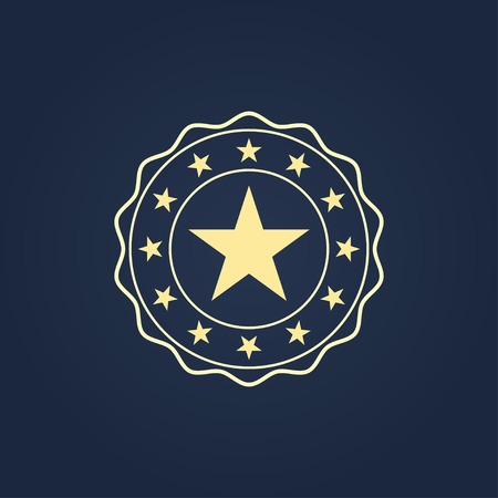 label round vintage with stars. vector eps8 Vector