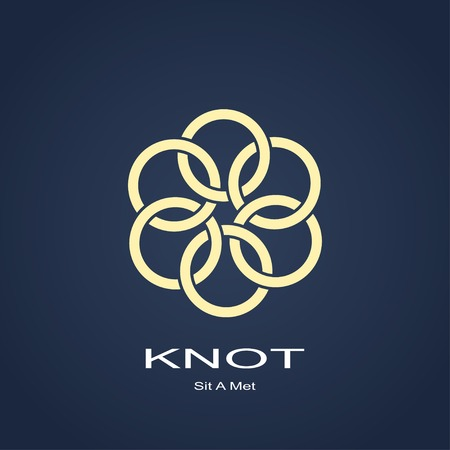 abstract knot of the rings symbol. template  design. Vector