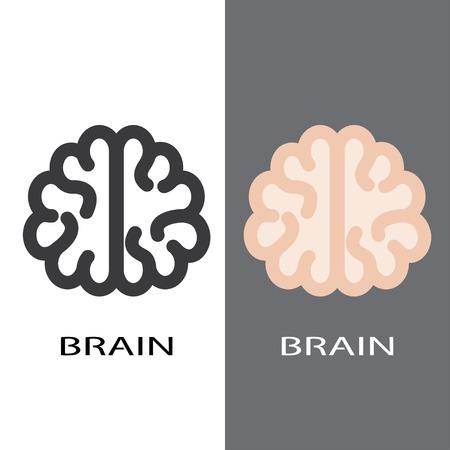 brain icons. vector set eps8 Vector