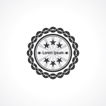 modern label round with weave frame and stars. vector eps8 Vector