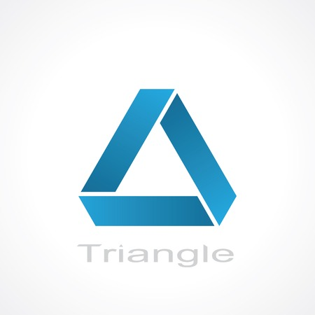 abstract triangle symbol blue. vector eps 8 Vectores