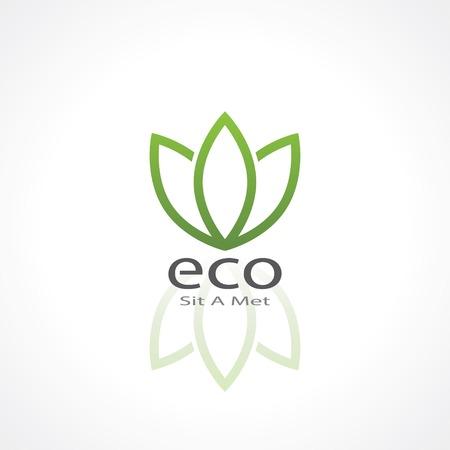 logo ecology: abstract green ecology symbol. template logo design. vector eps10 Illustration