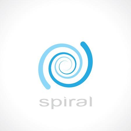 espiral: s�mbolo de la espiral abstracto. dise�o de logotipo de la plantilla.