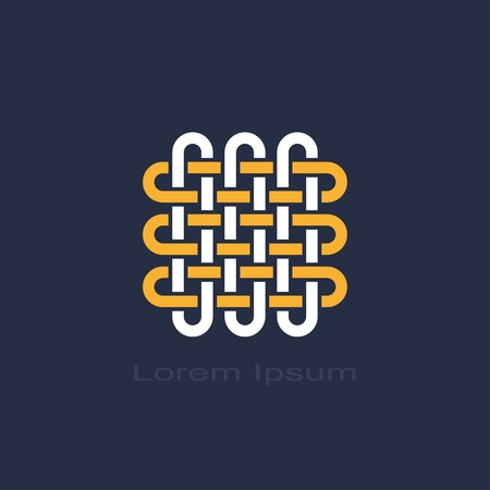 abstract knot weave symbol. Vector