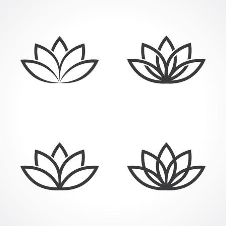 abstrakcyjnych symboli lotosu.