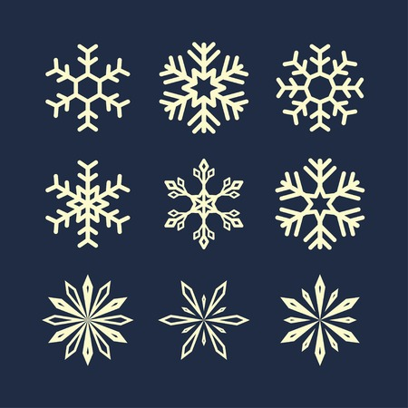 snowflake symbols. Illustration
