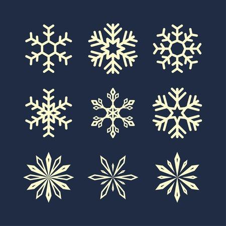 flocon de neige: symboles de flocon de neige. Illustration