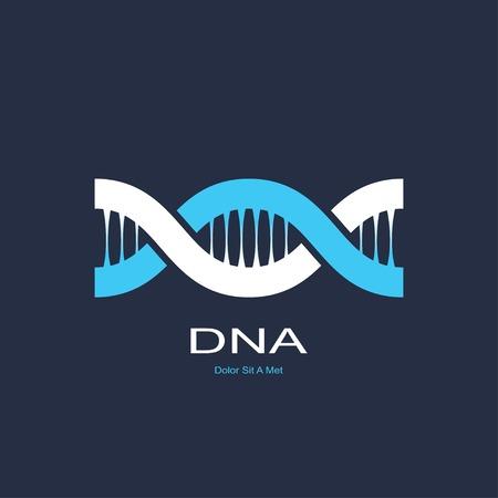 dna helix: symbol of dna. vector eps8 Illustration