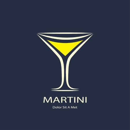 martini glass: martini glass symbol.  Illustration