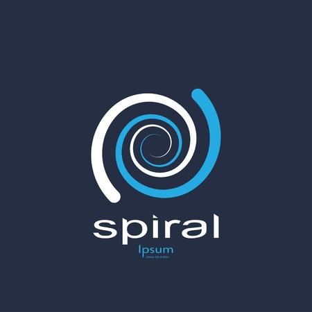 water vortex: abstract spiral symbol.