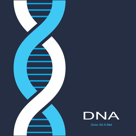 scientific background with symbol of dna. vector eps8 Illustration