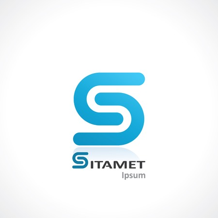 abstract symbol of letter s. template logo design. vector eps10