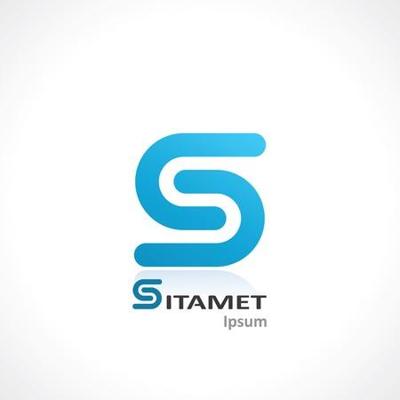 lettre s: symbole abstrait de la lettre. mod�le de conception de logo. vecteur eps10