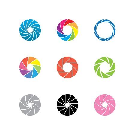 abstract color shapes. spiral shape, aperture shapes. vector eps8