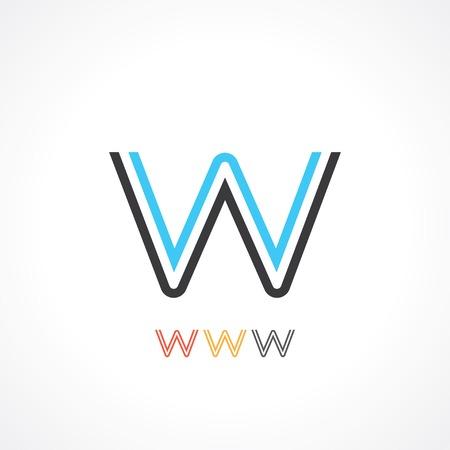 construction firm: symbol of letter w.  Illustration