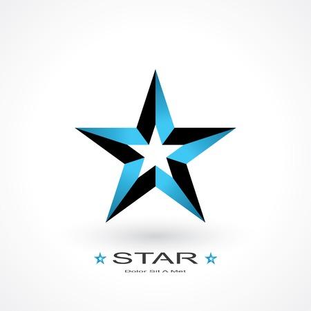 construction firm: symbol of star.  Illustration