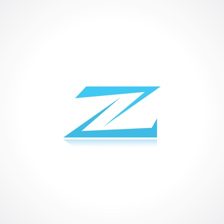 letter a z: abstract symbol of letter z.