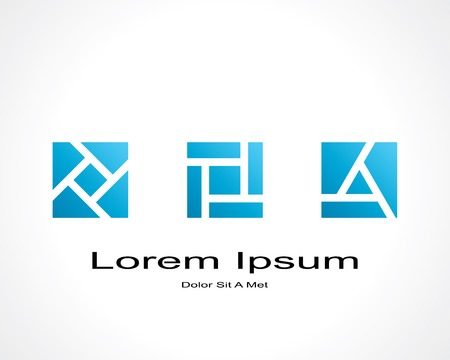construction firm: abstract square shaped elements.