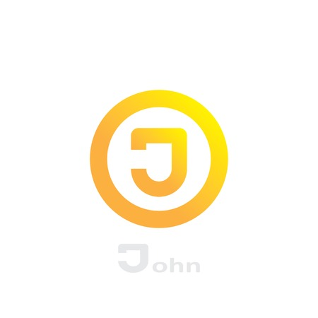 symbol of letter j in circle. template logo design. vector eps8 Vector