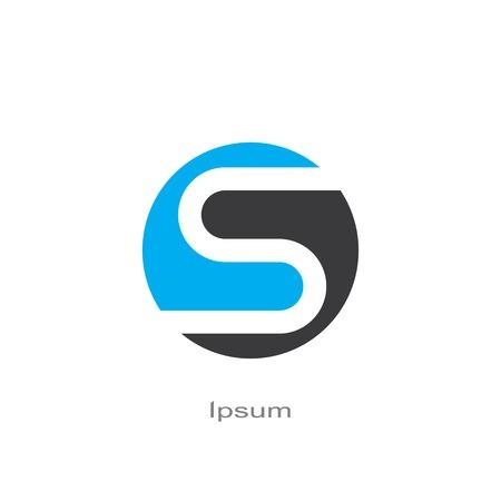 round symbol of letter s. template logo design. vector eps8 Illustration