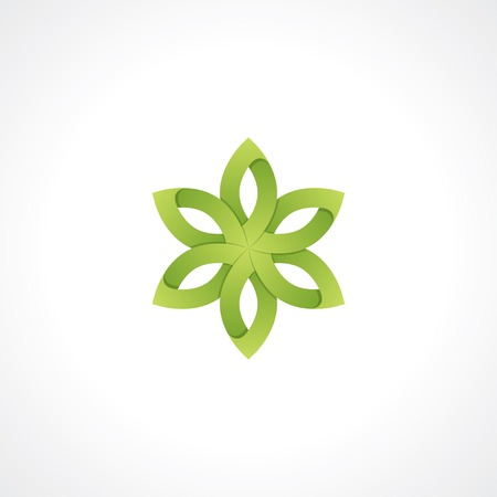 symbol of green flower.  Illustration