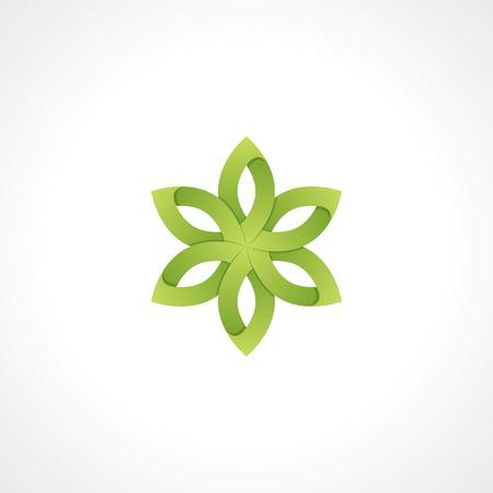 symbol of green flower.  Vector