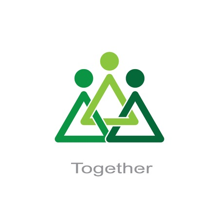together symbol. Illustration